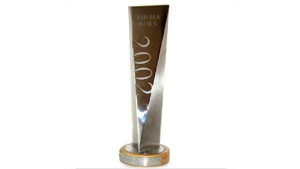 INA SKALICA bola ocenená na základe dosiahnutých hospodárskych výsledkov výročnou cenou TRENDu – Firma roka 2002