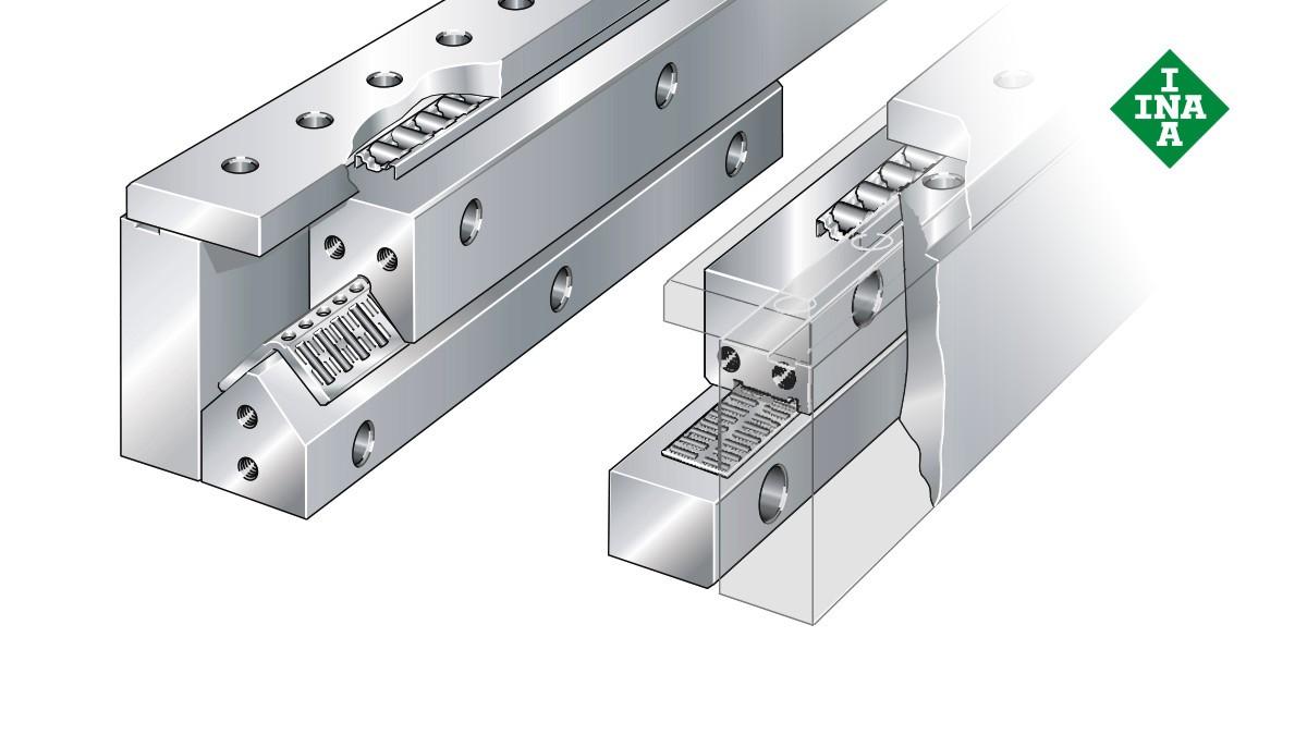 Schaeffler lineárne vedenia: Vymedzovací systém s plochými ihlovými alebo valčekovými klietkami
