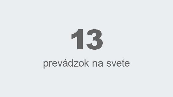 13 prevádzok na svete