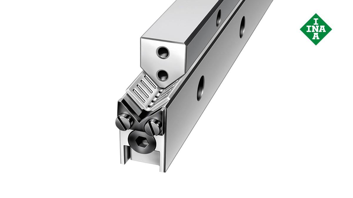 Schaeffler lineárne vedenia: Vodiace lišty M/V s uhlovou plochou klietkou