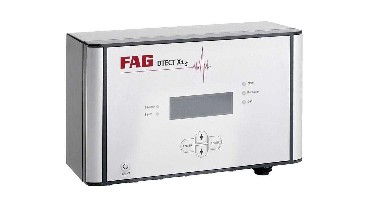 FAG DTECT X1 s je flexibilný online systém na sledovanie rotačných súčiastok a prvkov v strojárskom priemysle.